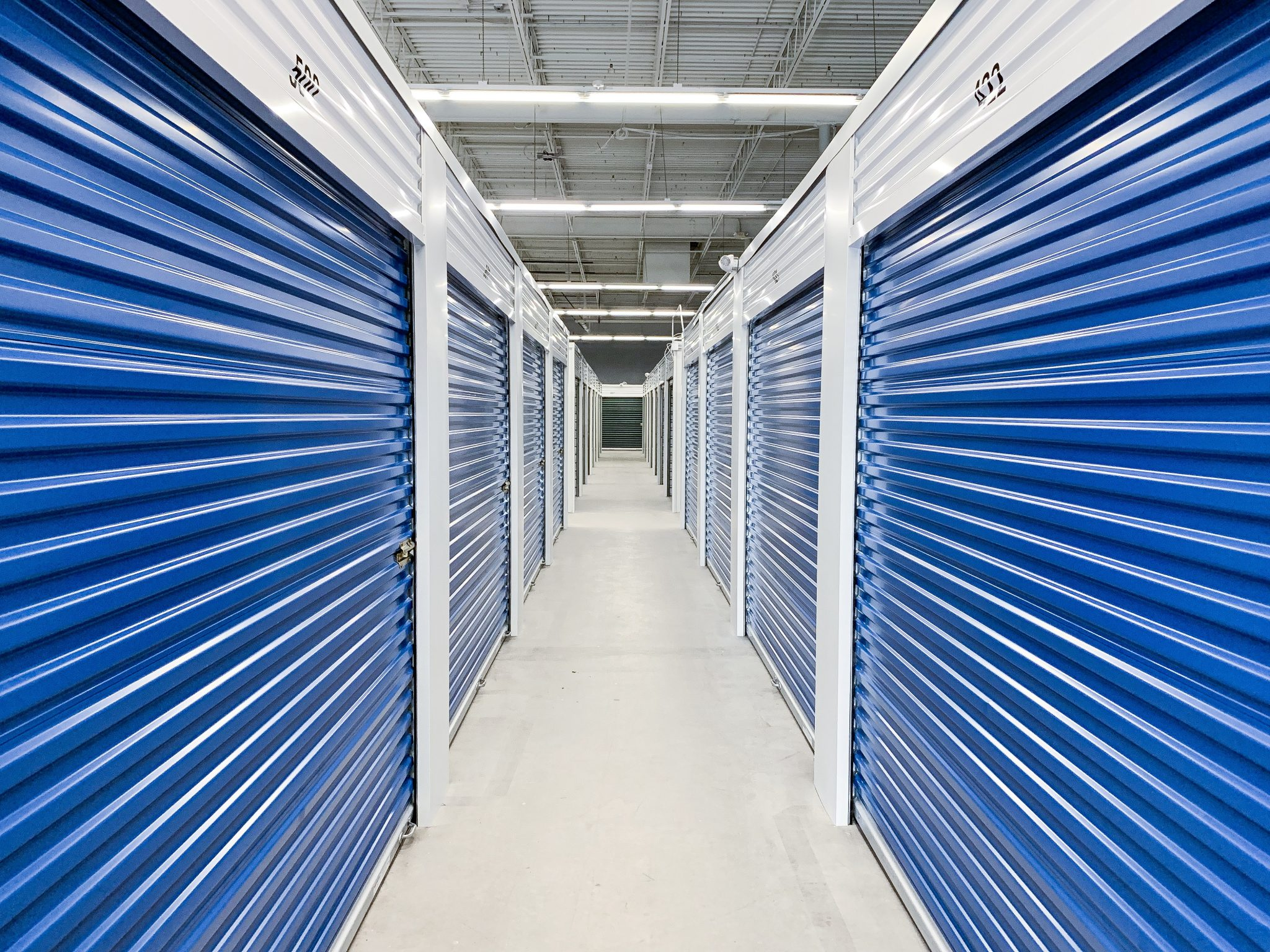 Blue Storage Hallway at Ashland Storage Center