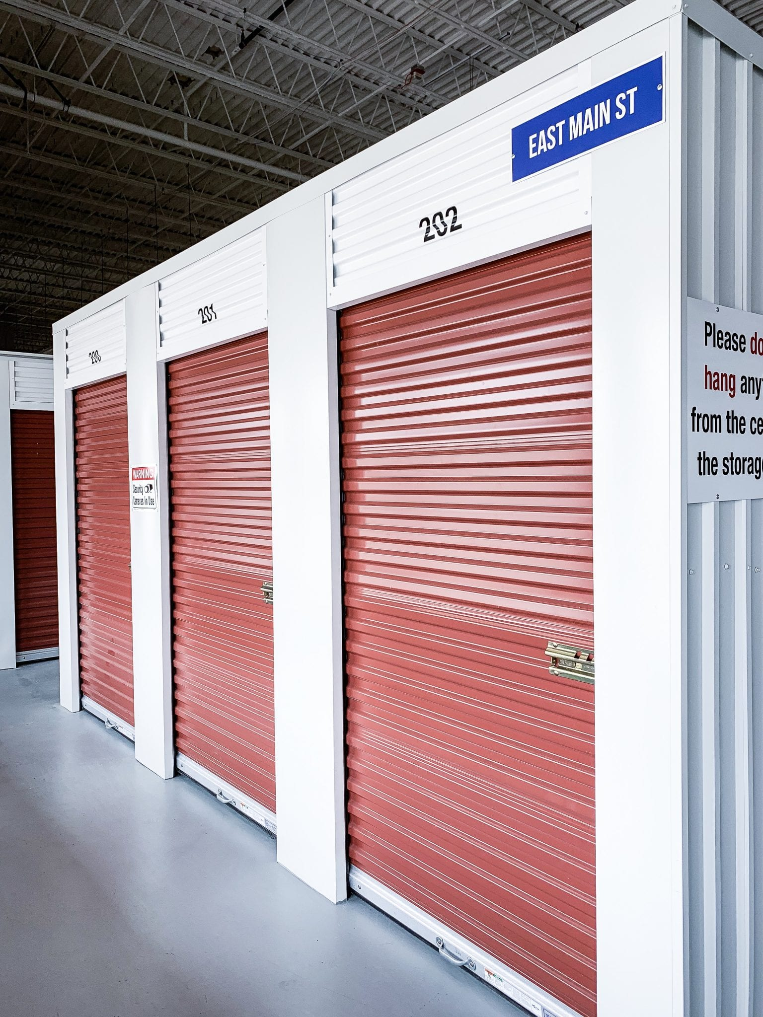 Red Indoor Storage at Ashland Storage Center