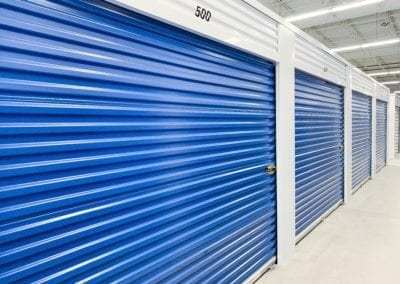 Blue Storage Units at Ashland Storage Center