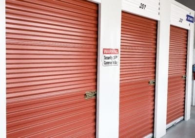 Red Storage Units at Ashland Storage Center