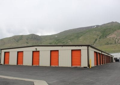 Orange Storage Units At Aspen Springs