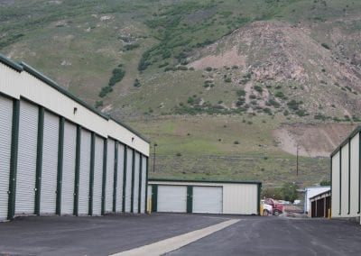 View Of Storage Units With Mountain in Background