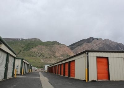 Green & Orange Storage Units
