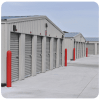 Grey Storage Units at Cottonwood Self Storage