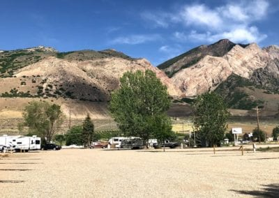 Mountain View From Camping Site in Willard Peak Campground