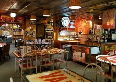 Serving Area at Sandy's Pizza