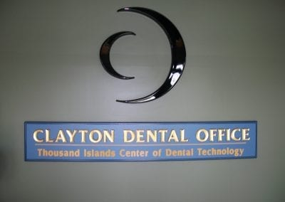 Clayton Dental Office Nameplate