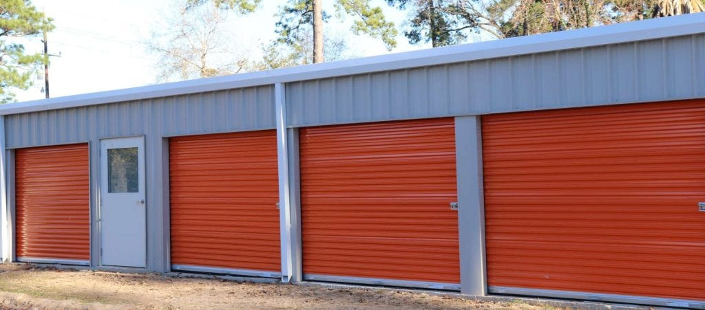 Orange Storage Units at Tiger Self Storage